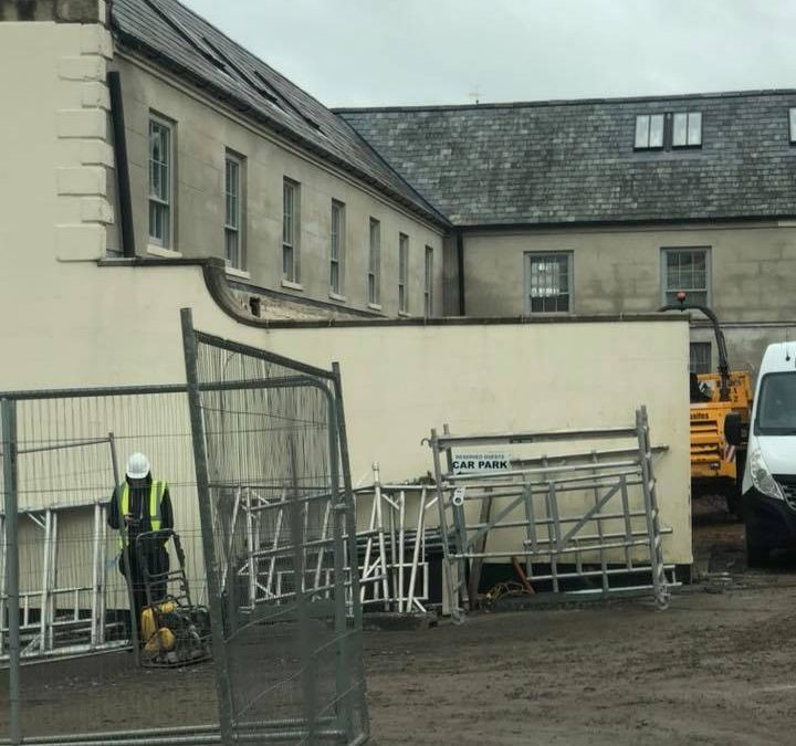 major restoration work taking place around the grounds of Hillsborough Castle, g…