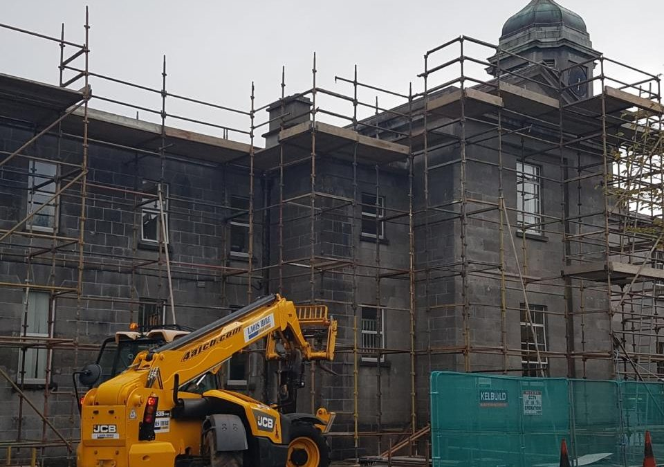 major restoration work currently being done at  St Fintan's Hospital Portlaoise …